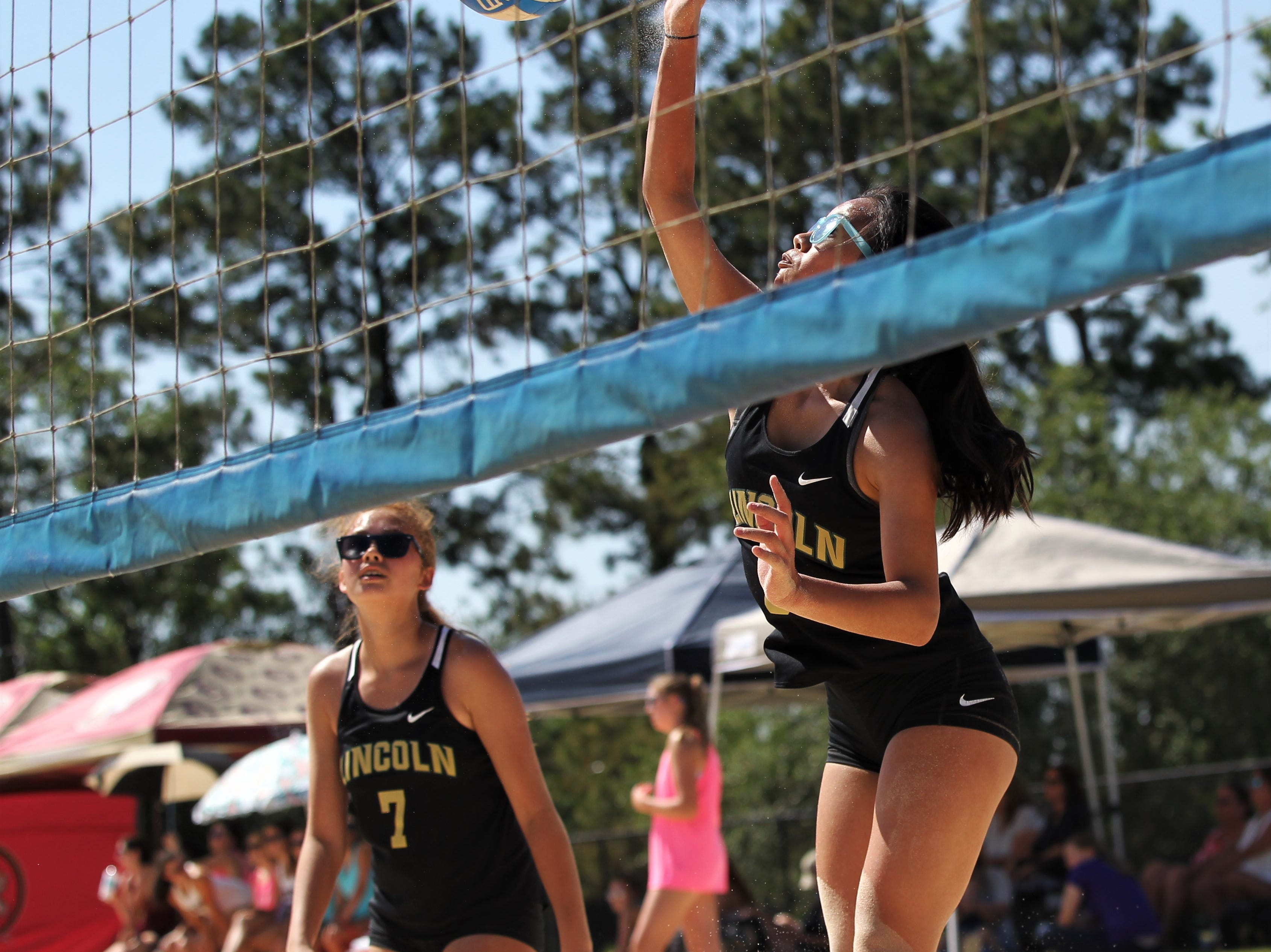 The 2019 Tallahassee high school beach volleyball championships at Tom Brown Park, semifinal matches, on May 7, 2019.