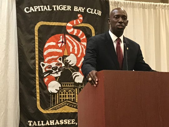 Wayne Messam, Democratic presidential candidate spoke Friday at a Capital Tiger Bay Club luncheon.