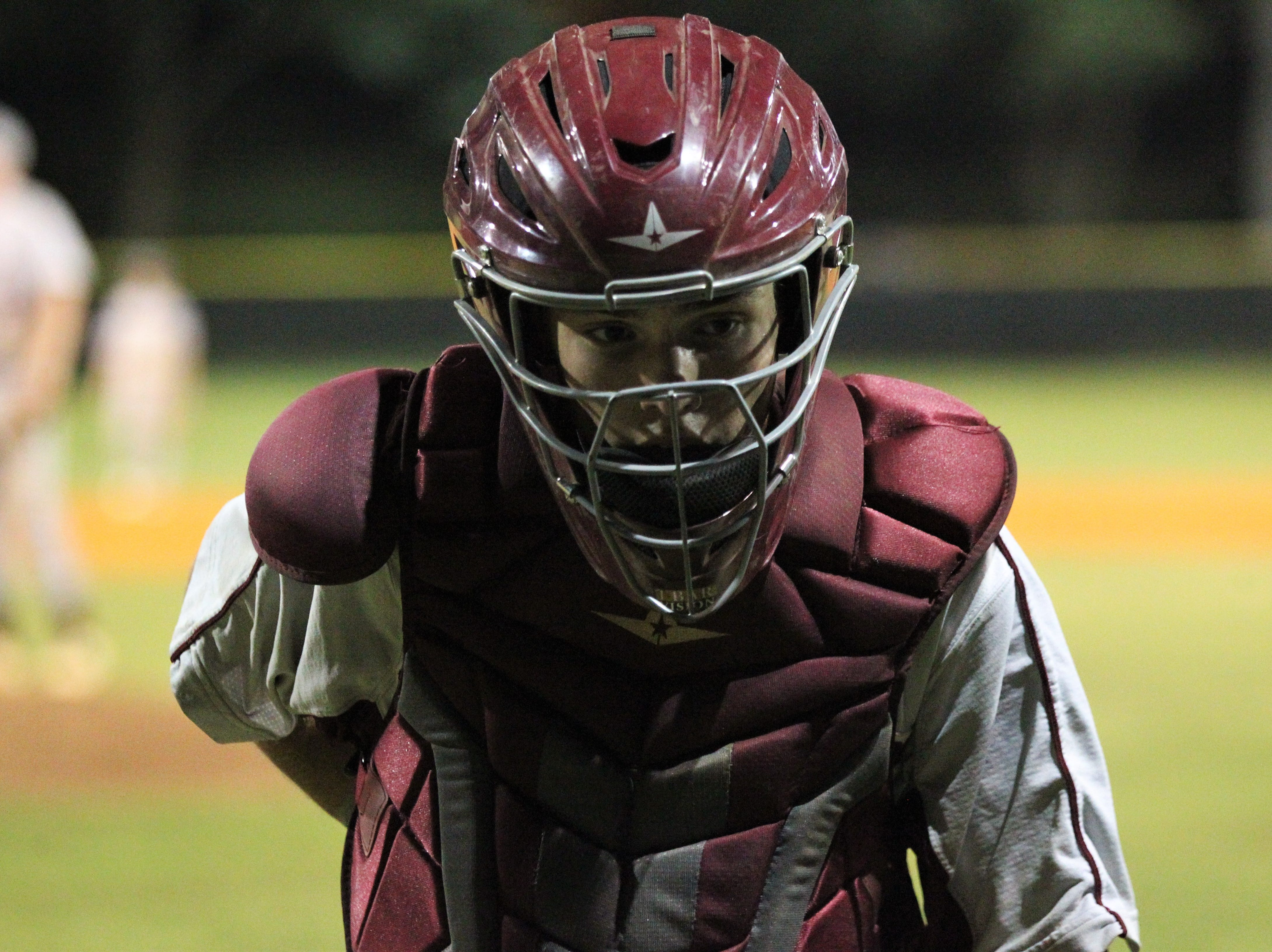Chiles freshman Jaxson West takes over at catcher as Lincoln baseball beat Chiles 5-4  in 10 innings during a District 2-8A championship game on Thursday, May 9, 2019.