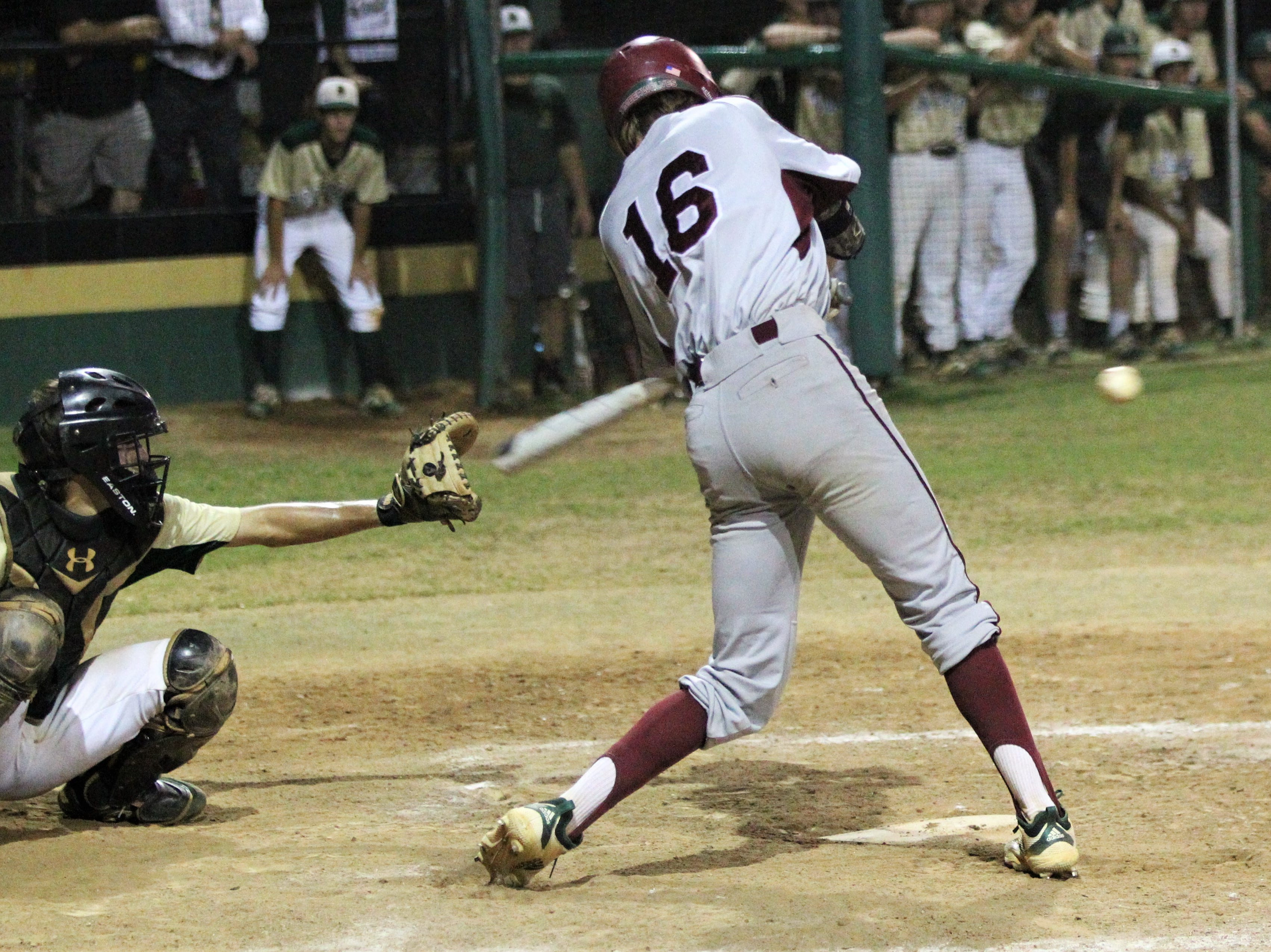 Chiles senior Sam Rudd bats as Lincoln baseball beat Chiles 5-4 in 10 innings during a District 2-8A championship game on Thursday, May 9, 2019.