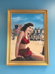 A portrait of Jeanne Baldino hangs in the Belmar, New Jersey, Taylor Pavilion.