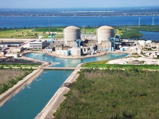The St. Lucie Nuclear Power Plant on Hutchinson Island.
