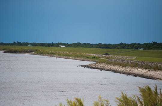 The low water level of Lake Okeechobee can be seen Tuesday, May 7, 2019, at Port Mayaca, the Rim Canal and the Lock 7/Jaycee Park Fishing & Observation Pier in Okeechobee County. County commissioners from Martin, Palm Beach, Glades, Hendry and Okeechobee attended a joint commission meeting later at Okeechobee High School where stakeholders voiced their concerns following statements from the Army Corps of Engineers and Rep. Brian Mast's office.
