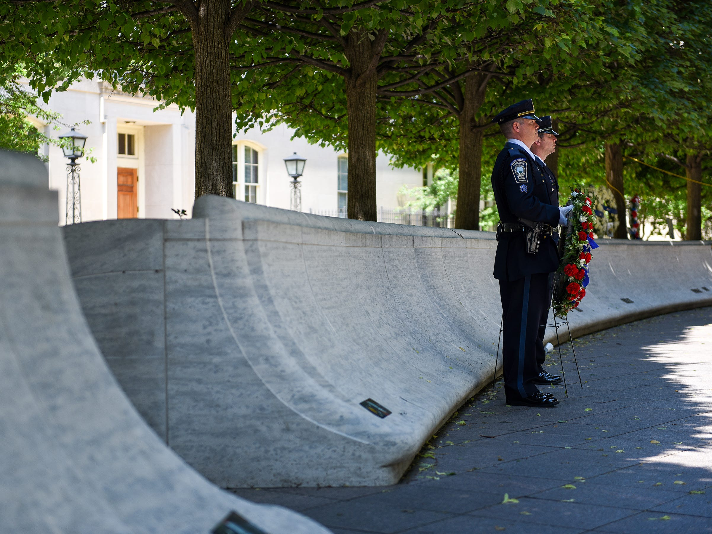 The National Law Enforcement Officers Memorial is located in Washington D.C. The memorial is where those who died are remembered while providing a place where survivors can pay tribute to their loved ones.