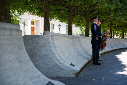 The National Law Enforcement Officers Memorial in Washington, D.C., is where those who died are remembered while providing a place where survivors can pay tribute to their loved ones.