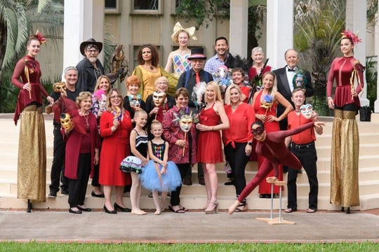 Pictured are several of the committee members and participants for the Arts Council of Martin County's 40th Anniversary Gala: Carnevale di mARTin.