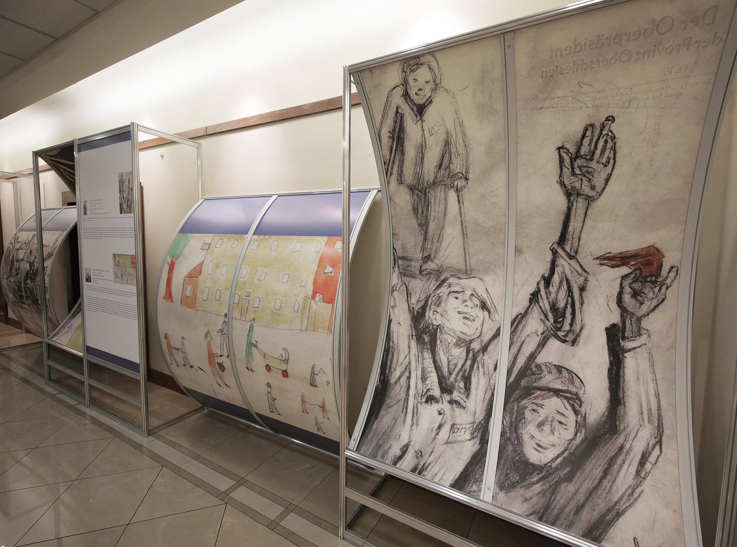 The El Paso Holocaust Museum and Study Center opened their exhibit 'The Anguish of Liberation as Reflected in Art' Friday. The exhibit features works created between 1945 and 1947 looking at how survivor artists reacted to liberation throught their art.