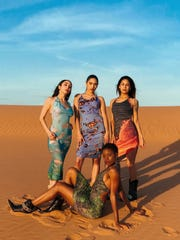 New York designer Romina Cenisio, who is from El Paso, designed a series of dresses that pay homage to the elements of Earth, Air, Water and Fire.