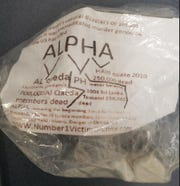 """A website with possible malware links is on suspicious packages stating """"Alpha""""  found in the yards of dozens of homes in El Paso."""