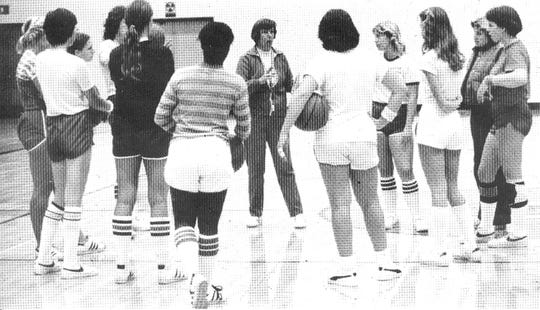 Pat Raguse (center), a pioneer in women's athletics at Ventura College, will be inducted into the VC Athletic Hall of Fame on May 19 at the Crowne Plaza Ventura Beach.