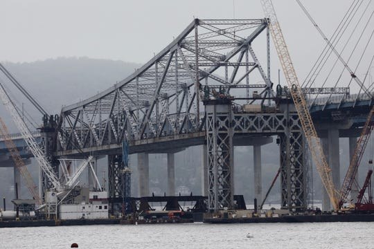 Tappan Zee Bridge slowly lowering, May 10, 2019.