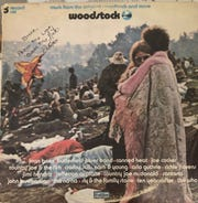Bobbi and Nick  Ercoline at Woodstock in 1969. Their photo was featured on the cover of the Woodstock album.