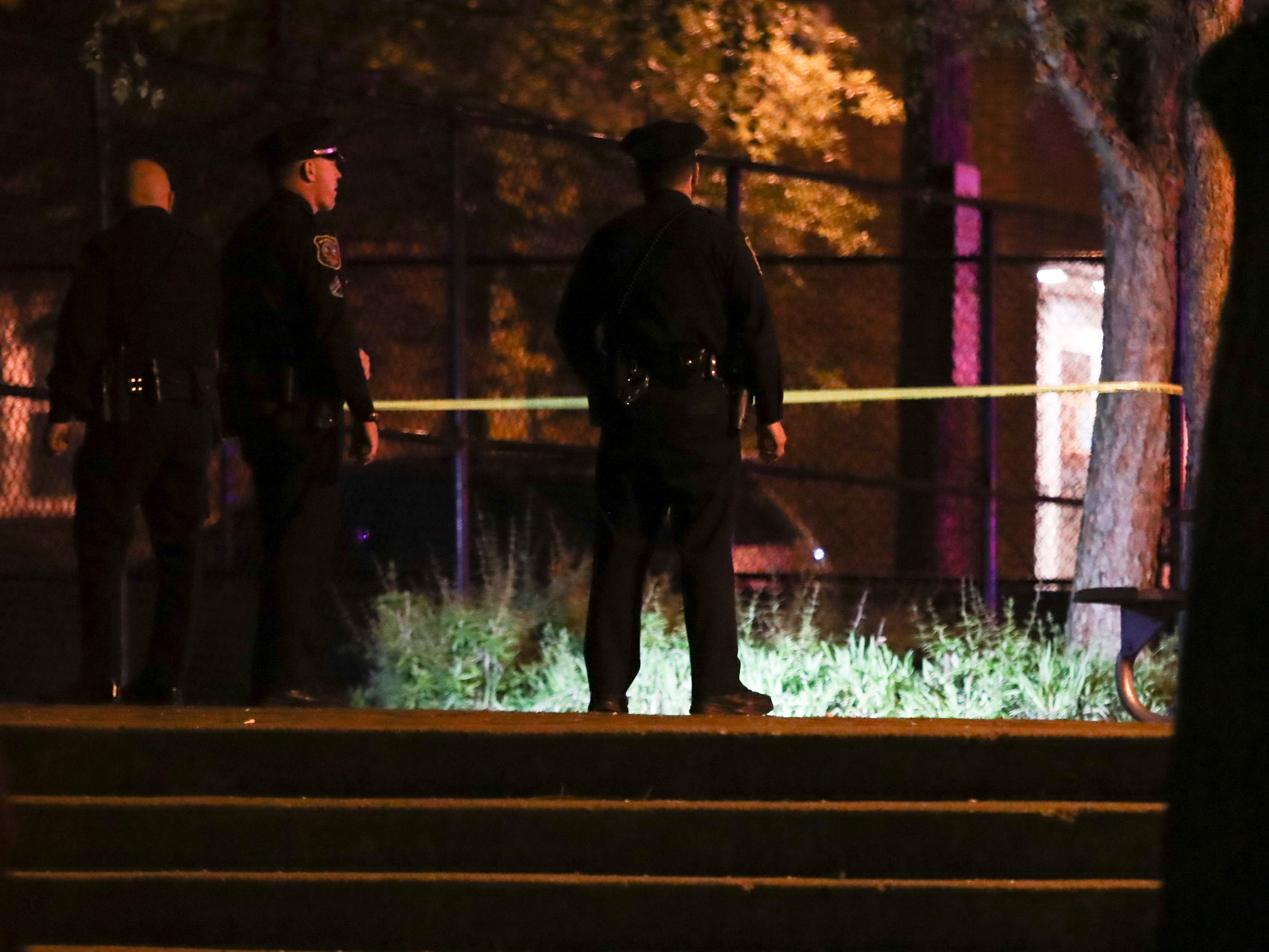 Wilmington police investigate in the Helen Chambers Park on N. Madison Street after a shooting reported about 10 p.m. Thursday. Police had taped off Madison Street from W. 4th Street to W. 7th Street but concentrated in the 600 block along the park.