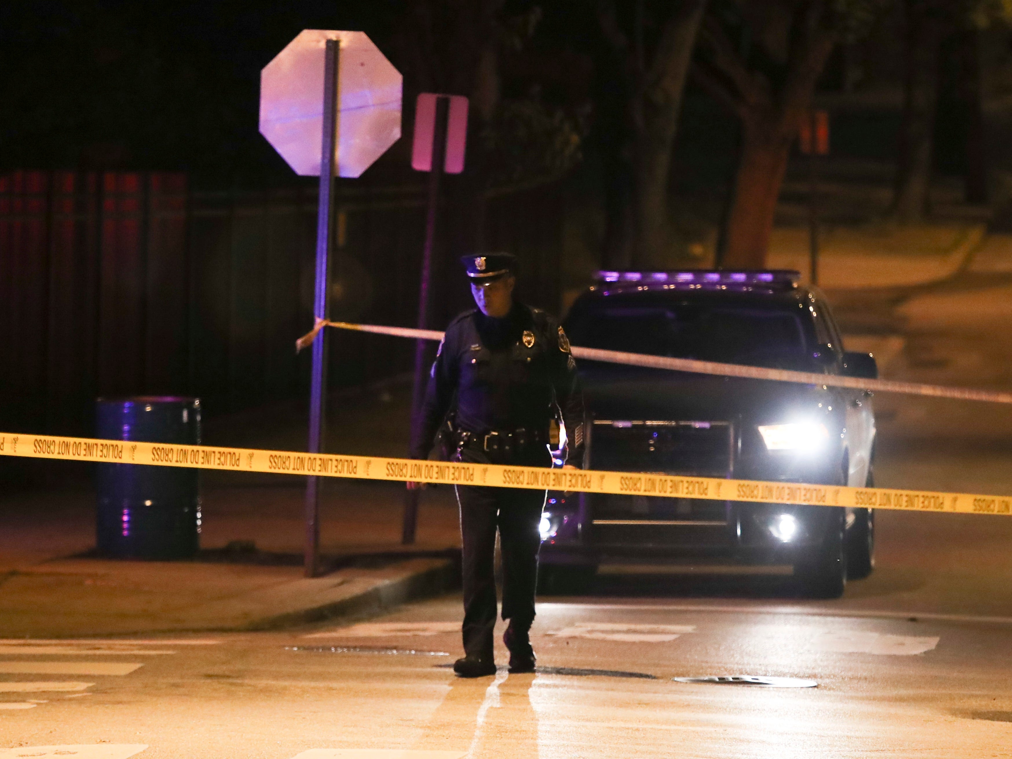 Wilmington police investigate a shooting reported about 10 p.m. Thursday in the area of Helen Chambers Park on Madison Street. Police had taped off Madison Street from W. 4th Street to W. 7th Street but concentrated in the 600 block in and along the park.