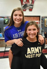 Wichita Falls High School seniors Aubrie Kuhrt, left, and her twin sister, Emma Kuhrt, both received appointments to military academies from U.S. Congressman Mac Thornberry.