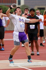 Munday's Kaven Lumsden won the shot put handily with a 57-1 1/2 that was more than six feet better than the field.