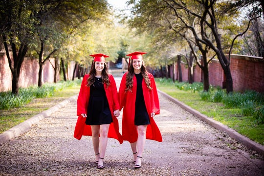 Aubrie and Emma Kuhrt will head to separate military academies in the fall after graduating from Wichita Falls High School this month.