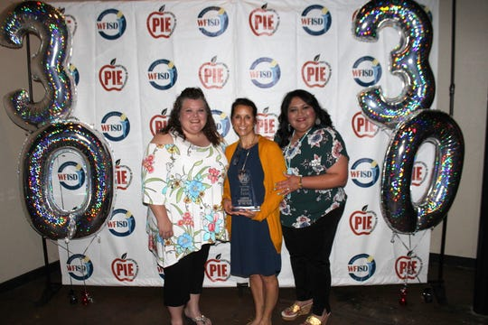 Kaycie Taylor of Lamar Elementary was named Campus Coordinator of the Year at the 2019 Wichita Falls Independent School District Partners in Education banquet last week. The first-year PIE coordinator and Read 2 Learn Coordinator at Lamar Elementary raised record donations for her campus.