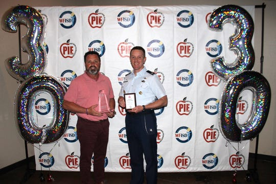 Sheppard Air Force Base was named Organization of the Year at the 2019 Wichita Falls Independent School District Partners in Education banquet last week. The base partners with Kirby Middle School and, among the various charitable efforts, sent 150 airmen to participate in Kirby's Beautification Day, giving more than 900 service hours to the school.