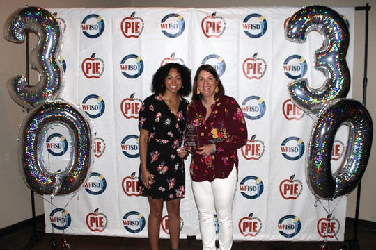 Midwestern State University was named Program of the Year at the 2019 Wichita Falls Independent School District Partners in Education banquet last week. Athletes from Midwestern State University read and visit with second-graders across the district on a bi-monthly basis as part of the 2 and 7                                                                                                                            Foundation Program.
