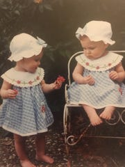 Twins Aubrie and Emma Kuhrt, shown as toddlers, will head to separate military academies in the fall after graduating from Wichita Falls High School this month. Aubrie will attend the Air Force Academy, and Emma will head to West Point.