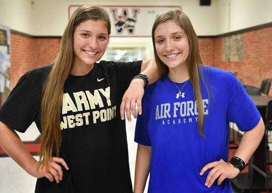 Wichita Falls High School seniors Emma Kuhrt, left, and her twin sister, Aubrie Kuhrt, both received appointments to military academies from U.S. Congressman Mac Thornberry.