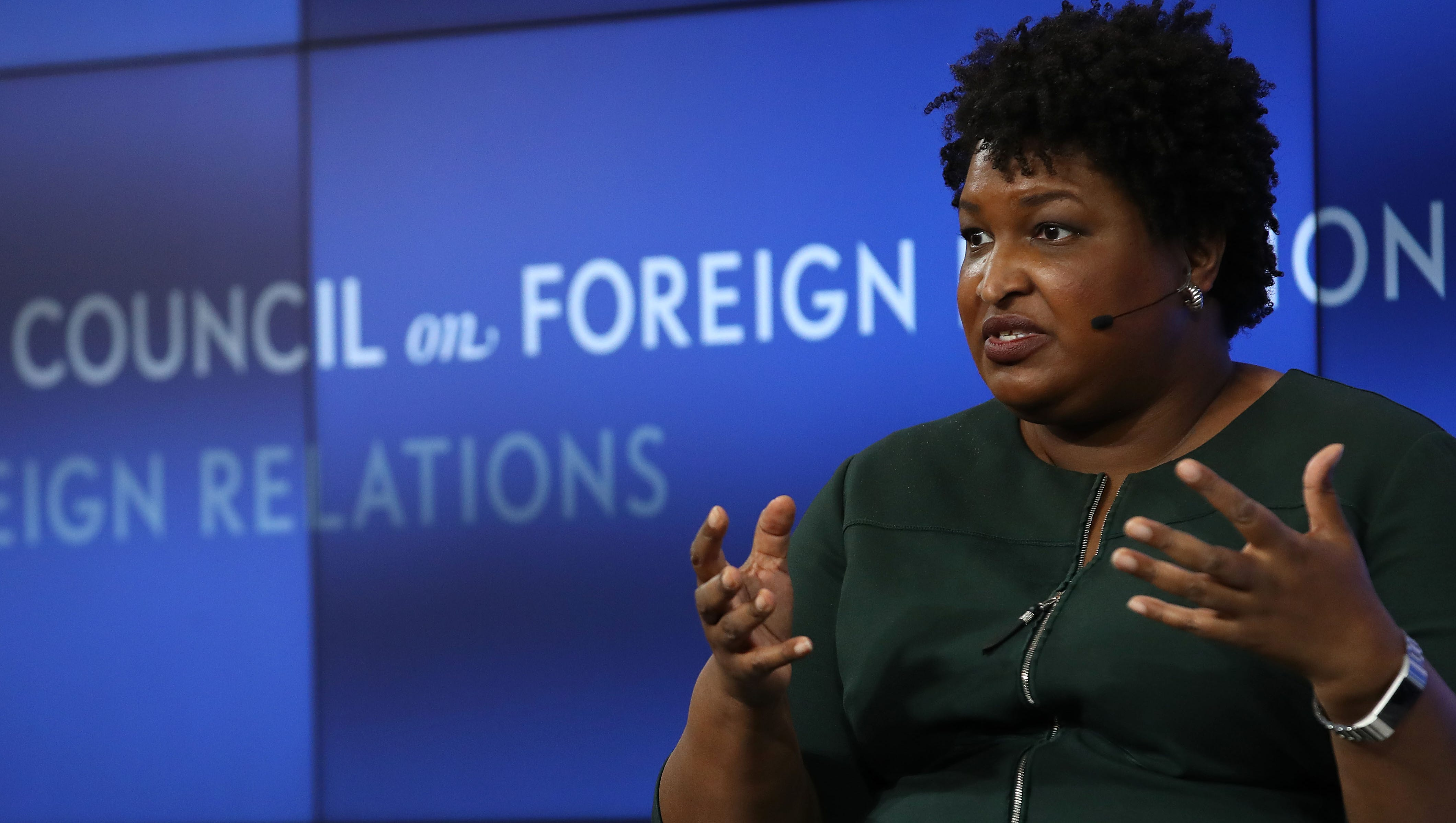 Former Georgia Democratic gubernatorial nominee Stacey Abrams speaks at the Council on Foreign Relations May 10, 2019 in Washington, DC. Abrams appeared as part of the 2019 Conference on Diversity in International Affairs. (Photo by Win McNamee/Getty Images)