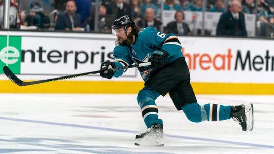 Sharks defenseman Erik Karlsson is having a strong postseason.
