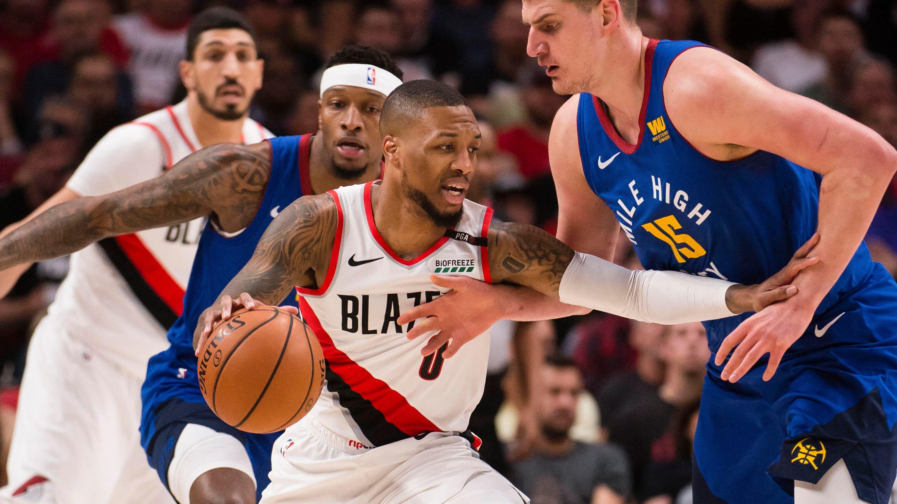 b25f422ecd9 NBA playoffs  Blazers beat Nuggets to force decisive Game 7