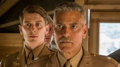 Catch 22 -- Episode 5 - Reeling from one violent tragedy, Yossarian encounters incomprehensible darkness in Rome, and is faced with an impossible choice. Peele (Ian Toner) and Scheisskopf (George Clooney), shown. (Photo by: Philippe Antonello/Hulu)