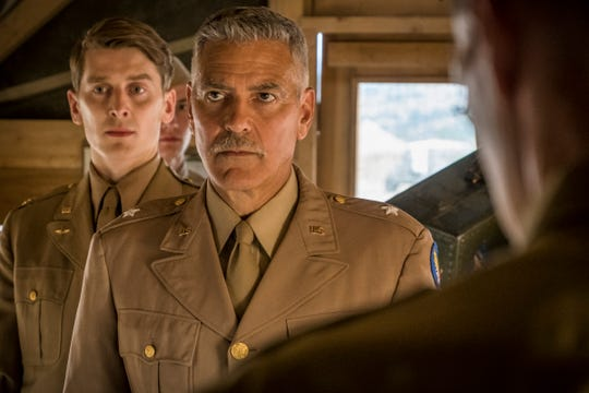 "Ian Toner and George Clooney in a scene from Hulu's ""Catch-22."""