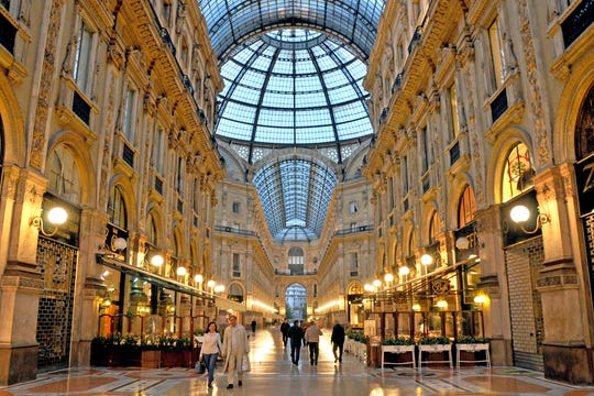One of the world's first shopping malls, Milan's Galleria Vittorio Emanuele II still impresses today.