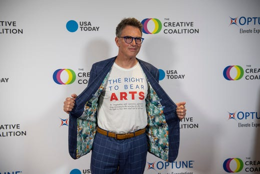 5/9/19 7:16:58 PM -- Washington, DC, U.S.A  -- Tim Daly poses on the red carpet at the The Creative Coalition's annual gala.  --    Photo by Hannah Gaber, USA TODAY staff ORG XMIT:  HG 138011 Red carpet at th 5/09/2019 (Via OlyDrop)