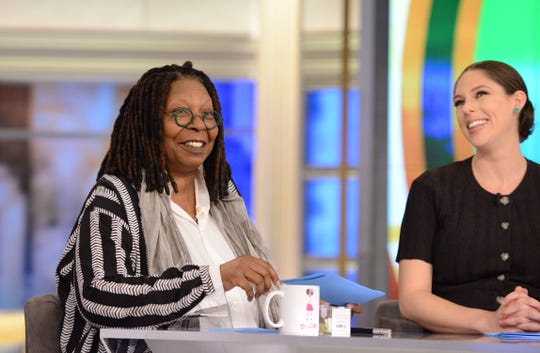 """""""View"""" co-hosts Whoopi Goldberg and Abby Huntsman"""