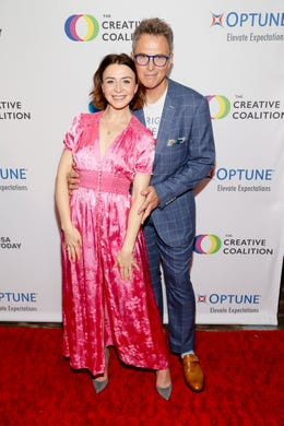 WASHINGTON, DC - MAY 09: (L-R) Actress Catherina Scorsone and Actor Tim Daly at the Creative Coalition's 2019 #RightToBearArts Gala Presented By Optune on May 09, 2019 in Washington, D.C. (Photo by Paul Morigi/Getty Images The Creative Coalition) ORG XMIT: 775330972 ORIG FILE ID: 1148120169