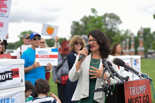 Reps. Al Green  and Rashida Tlaib hold impeachment rally outside U.S. Capitol