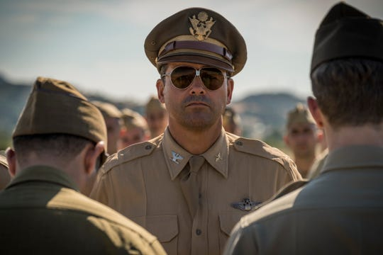 "Kyle Chandler as Col. Cathcart in Hulu's adaptation of Joseph Heller's wartime novel ""Catch-22"""