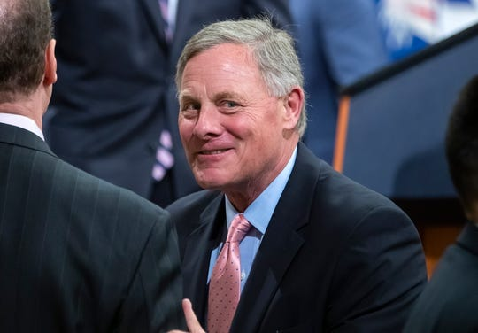 GOP Senator from North Carolina Richard Burr attends the Farewell Ceremony for Deputy Attorney General Rod Rosenstein at the Department Justice in Washington, D.C, May 9, 2019. Burr is chairman of the Senate Intelligence Committee, which subpoenaed Donald Trump Jr., the son of President Donald J. Trump.