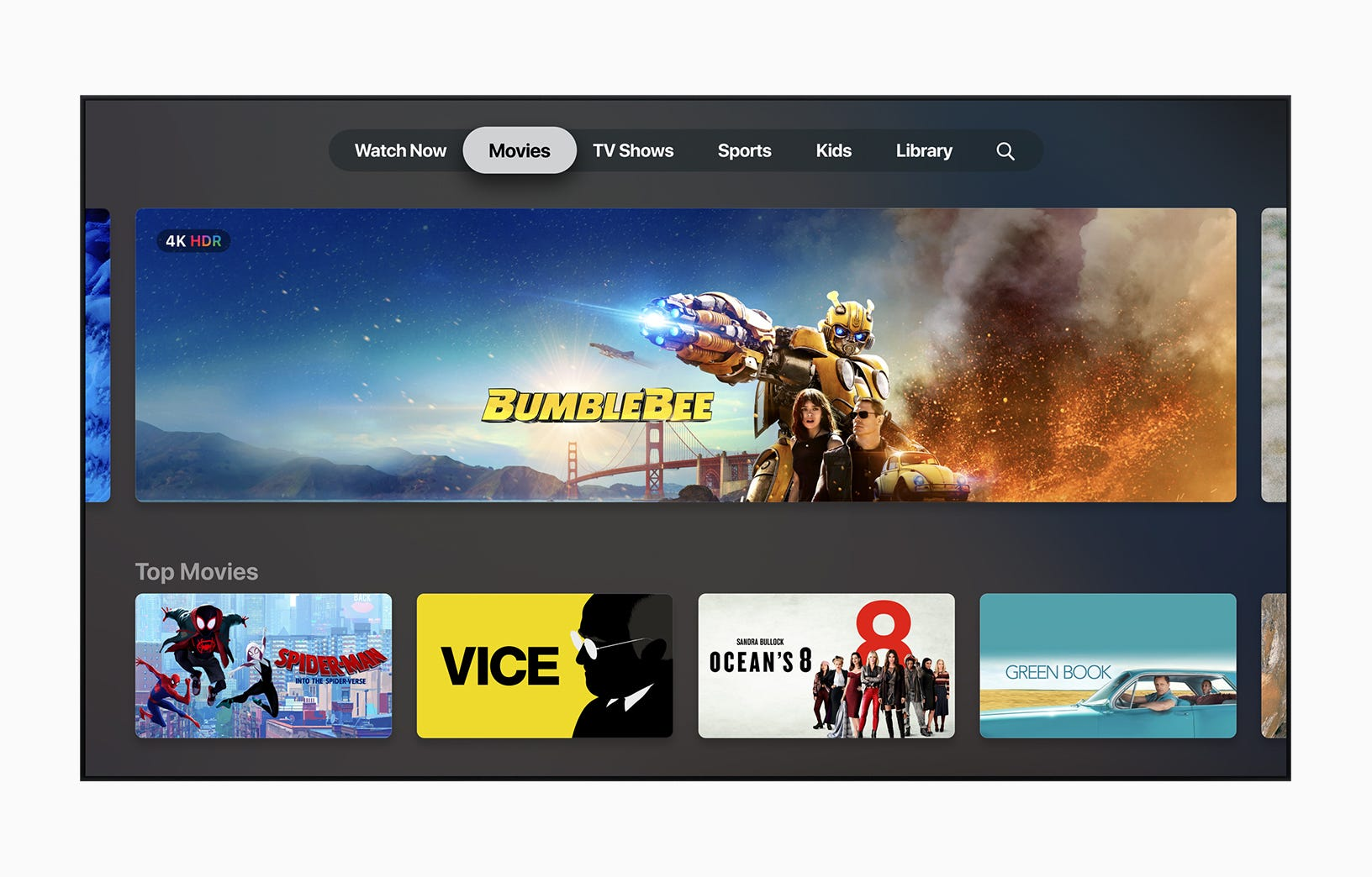 The redesigned Apple TV app.