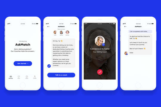 AskMatch connects you with a dating expert you can talk to in real time.