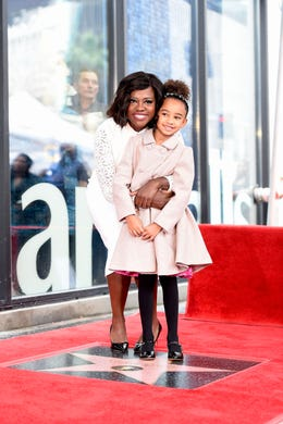 Viola Davis and her daughter Genesis Tennon attend a ceremony honoring Davis with a star on the Hollywood Walk of Fame on Jan. 5, 2017 in Hollywood, Calif.