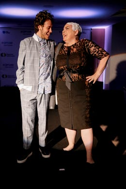 WASHINGTON, DC - MAY 09: Actor Ethan Cutkosky and Optune Patient Ambassador Lisa Bruce walk the runway during the Creative Coalition's 2019 #RightToBearArts Gala Presented By Optune on May 09, 2019 in Washington, D.C. (Photo by Paul Morigi/Getty Images The Creative Coalition) ORG XMIT: 775330972 ORIG FILE ID: 1148120228