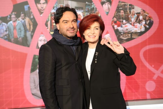 "Johnny Galecki, with Sharon Osbourne, visits ""The Talk"" on May 9, 2019."