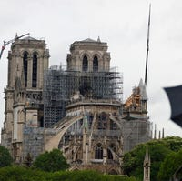 Fire Damaged Notre Dame Cathedral In Paris Still Attracting