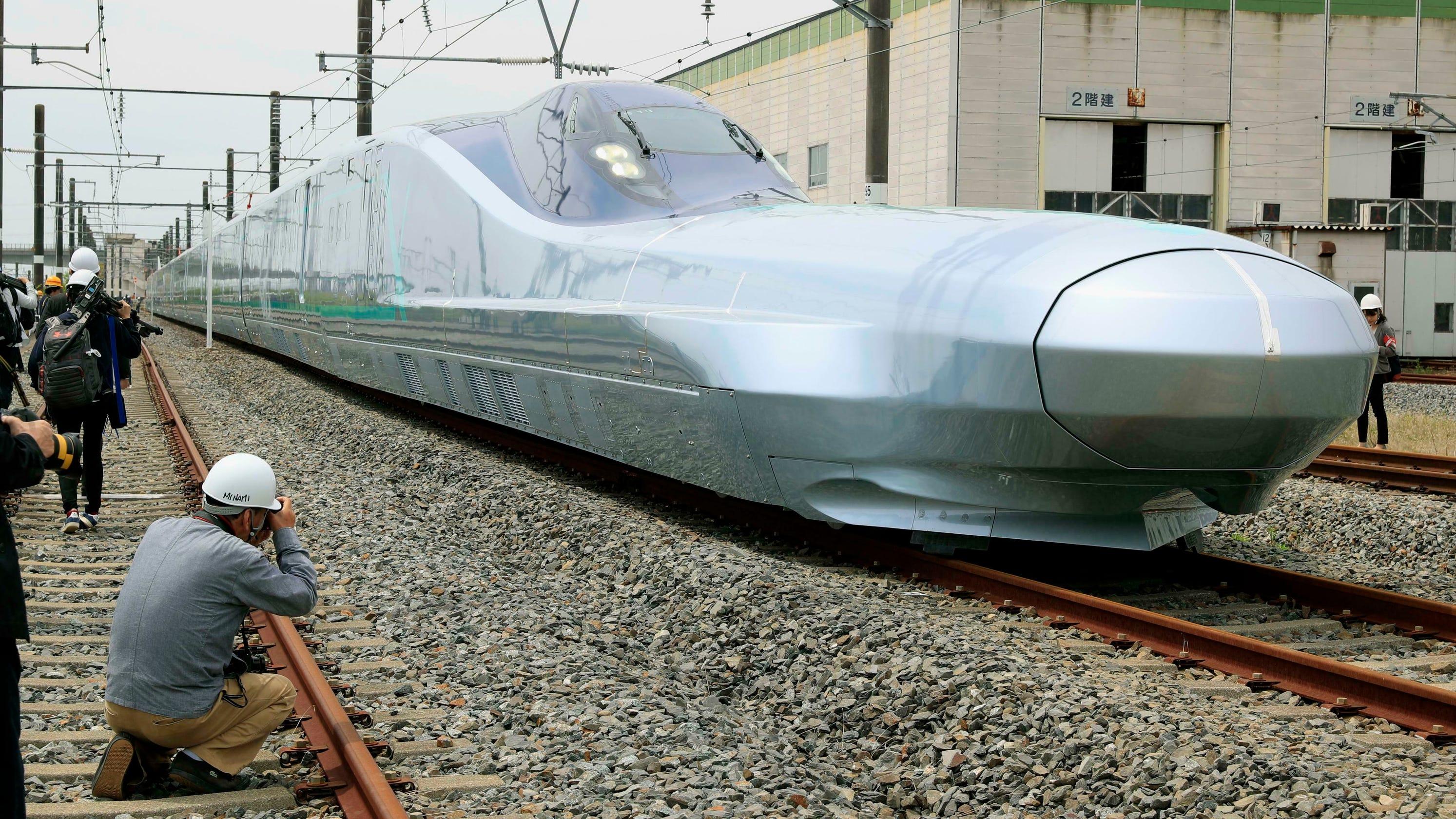 Bullet train prototype testing begins in Japan of fastest