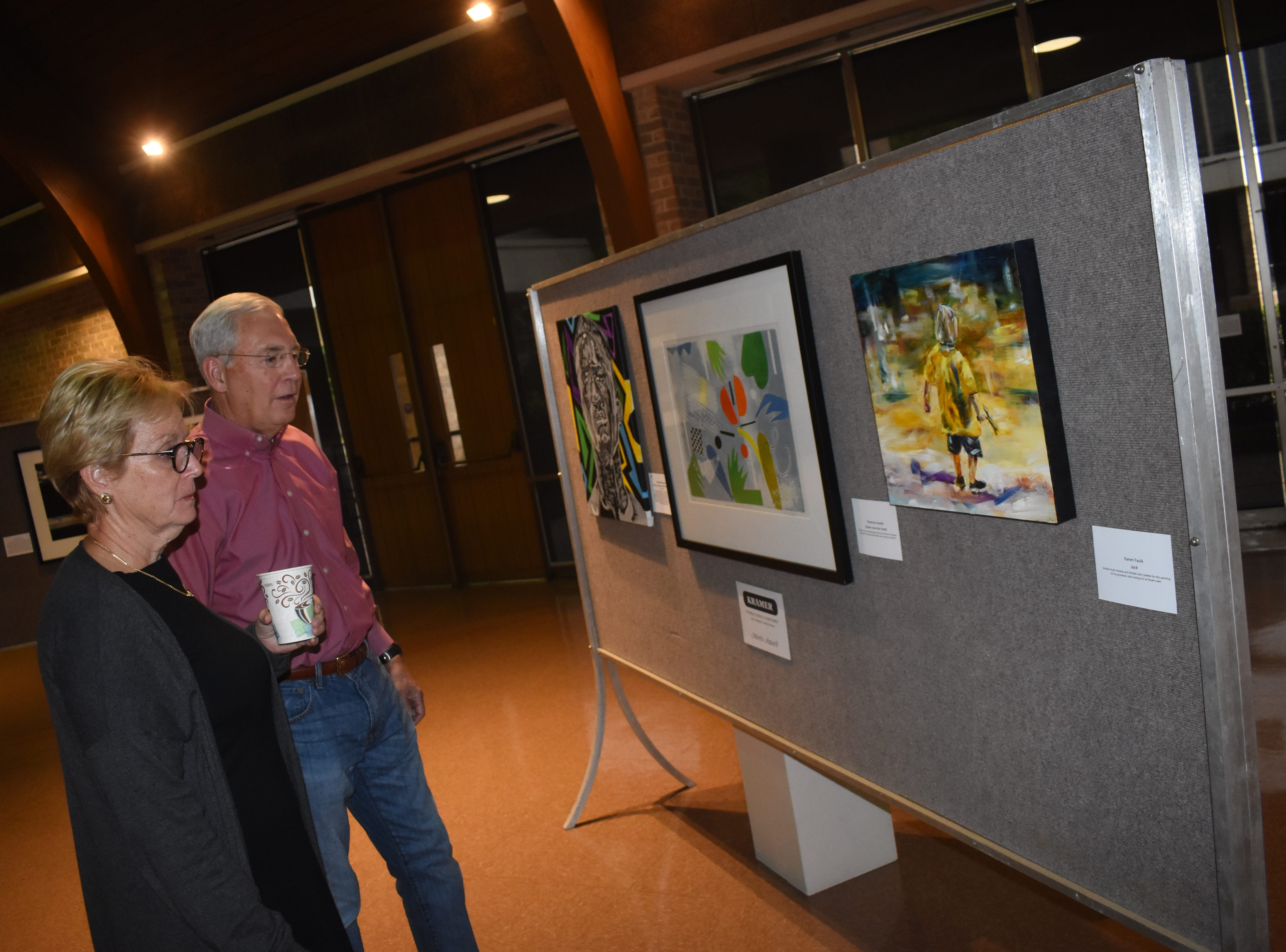 Smithfield Fair performed at Jazz on Jackson held Friday, May 10, 2019 at First United Methodist Church Alexandria. Guests were invited to view the art chosen for the Tom Peyton Memorial Arts Festival. The exhibit will be on view until May 12.