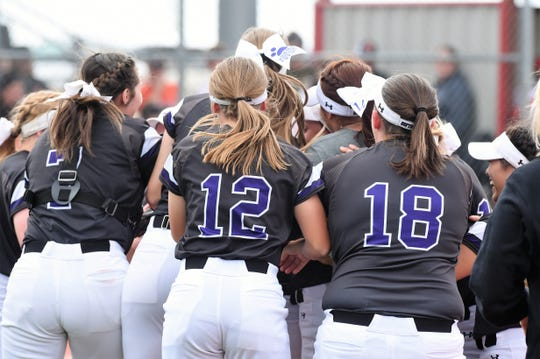 The Wylie softball team celebrates it's 2-1 series win against Lubbock Coronado in the Region I-5A quarterfinals on Saturday in Hermleigh. The Lady Bulldogs won 8-4 and 10-7 in Games 2 and 3 to take the series.