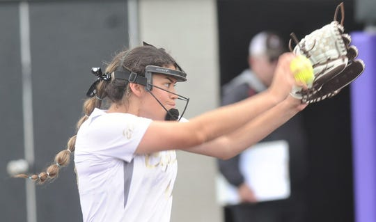 Clyde's Kaitlyn Turner pitched all 14 innings of the team's series sweep of Eastland, picking up both wins.