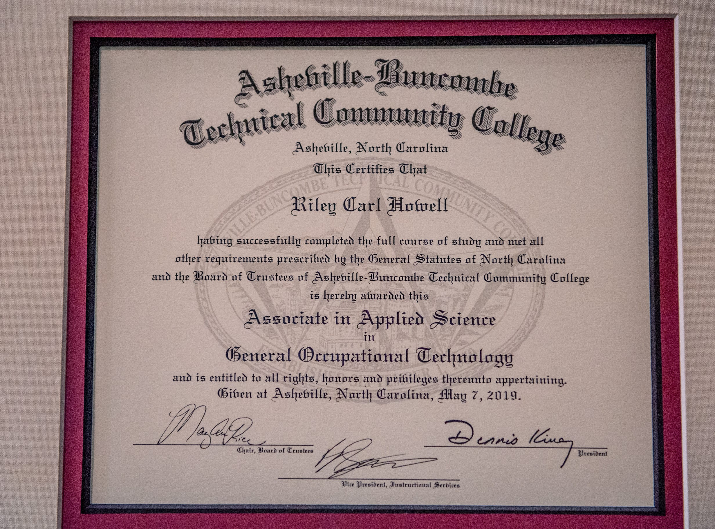 Asheville-Buncombe Technical Community College held its graduation ceremony on May 11, 2019