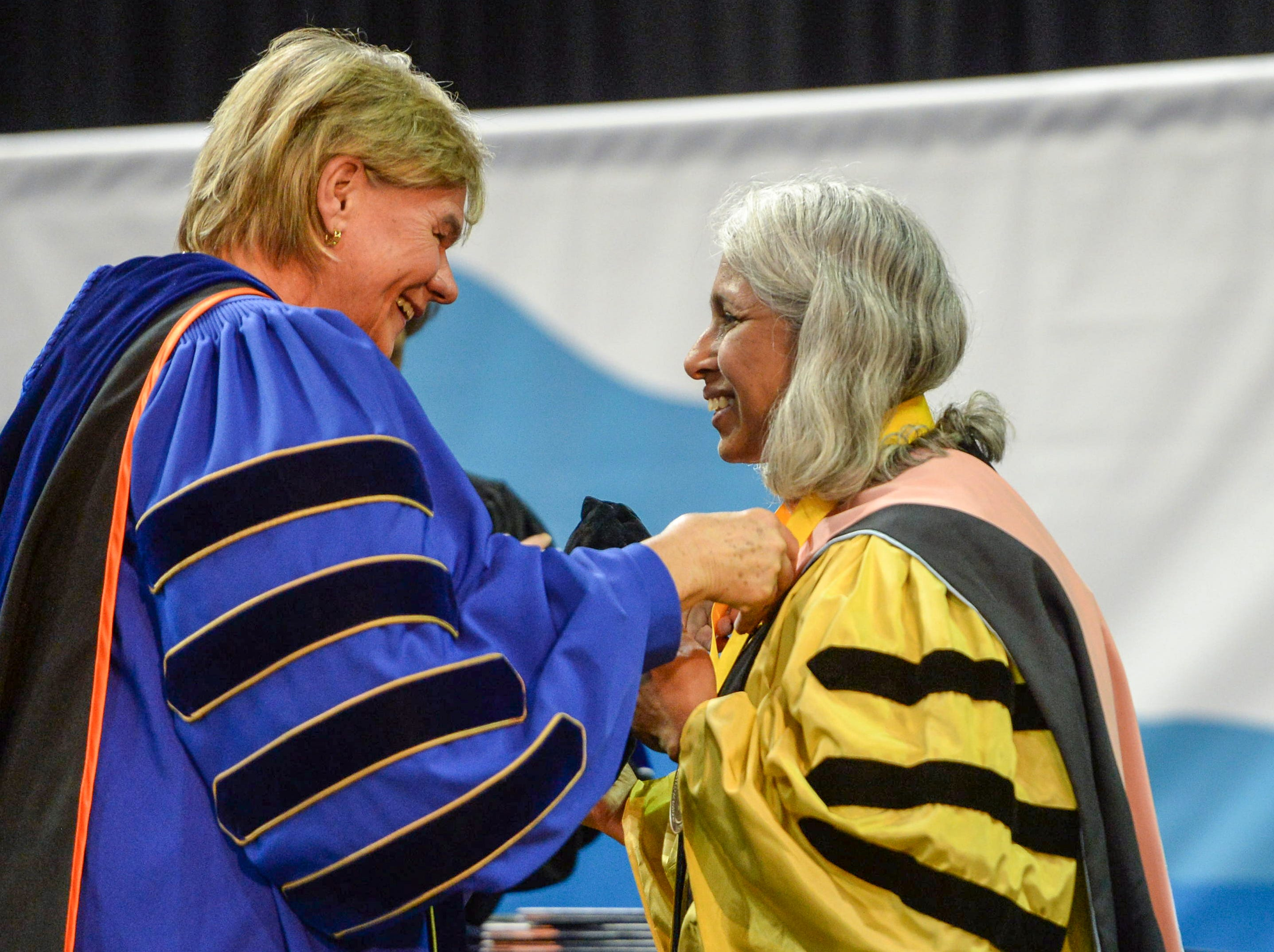 UNC Asheville held their 2019 commencement ceremony at Kimmel Arena May 11, 2019. Paula Kerger, president and CEO of PBS, was the commencement speaker.